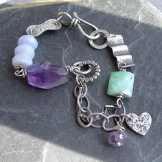 Purple Heart Bracelet Everything by artdi