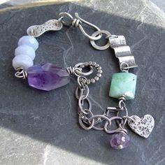 Purple Heart Bracelet Everything by artdi