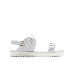 Image 1 of FLAT SANDAL WITH BUCKLE from Zara