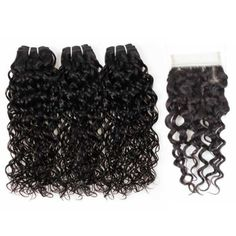 Brazilian Virgin Weft Nature Wave Virgin Remy Hair Extensions,Mink Brazilian Virgin Human Hair Nature Wave Hair 3 or 4 Bundles With Closure #brazilianhair #laceclosure