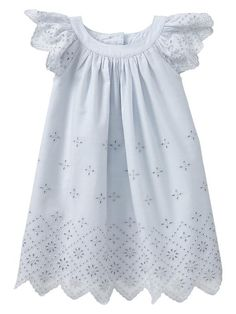 Baby Gap 2014 Eyelet Flutter Dress in Cloudy Blue