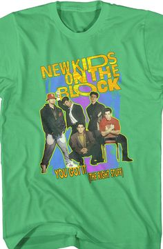Mens The Right Stuff New Kids on the Block Shirt: NKOTB Shirt