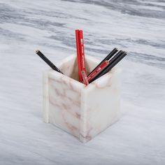 Handmade marble pencil holder Pencil Holder, Toothbrush Holder, Marble, Container, Handmade, Hand Made, Pencil Holders, Granite, Marbles