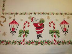 Vintage CHRISTMAS Tablecloth Smiling Santa & by unclebunkstrunk, $54.99
