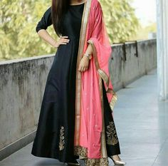 Buy Black Tafetta Silk Machine Work Semi Stitched Long Anarkali Suit online in India at best price.Product Details Featured in Collections PartyWear Suits Tafetta Silk Machine Work Black Semi Stitched Black Anarkali, Long Anarkali, Anarkali Dress, Anarkali Suits, Pakistani Dresses, Indian Dresses, Black Salwar Suit, Anarkali Gown, Punjabi Suits