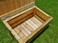 New Diy Wood Bench Outdoor Storage Ideas Outside Storage Bench, Pool Storage Box, Patio Storage Bench, Outdoor Storage, Diy Storage, Storage Boxes, Pallet Storage, Wood Bench Plans, Diy Wood Bench