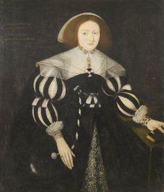 Portrait de Margaret Dodding, 1629 suiveur de Marcus Gheeraerts