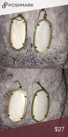 Kendra Scott Danielle Earrings Tarnish to eat wire and normal wear. Kendra Scott Jewelry Earrings