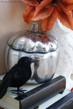 Spookify Your Home With These DIYs: DIY Mercury Glass Pumpkin
