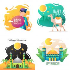 Discover thousands of Premium vectors available in AI and EPS formats Flat Design Illustration, Character Illustration, Ramadan Background, Background Banner, Vector Background, Poster Ramadhan, Islamic Cartoon, Kids Schedule, How To Make Banners