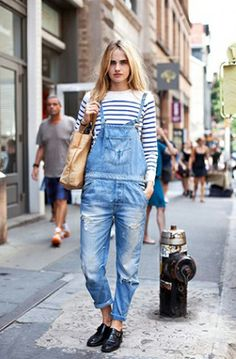 a3f8543627b491 Dungarees+Stripes Overalls Fashion