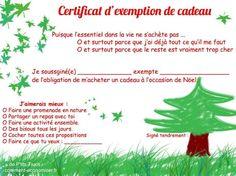 Offrir un certificat d'exemption de cadeau à Noël! Une Nouvelle Méthode Astucieuse Pour S'offrir des Cadeaux à Noël.