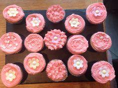 Pink cupcakes :)