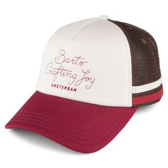 30a8ab17396 Barts Hats Clan Trucker Cap - Off White-Burgundy