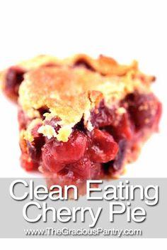 Clean Eating Cherry Pie
