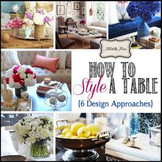 Styling a coffee table can be so fun! Here's a look at 6 different design approaches for creating a beautifully styled coffee table.