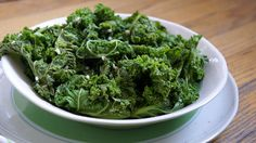 Sauteed Kale with Garlic: 1-2 tablespoons olive oil 2 cloves garlic, minced 1 bunch of kale, coarsely chopped (can use leaves and stems) ¼ to ½ cup of delicious broth or filtered water Sea salt to taste