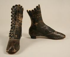 Imagine these 1860-69 boots with scallop tops in pristine condition, and you can see why Tess fell in love with them.