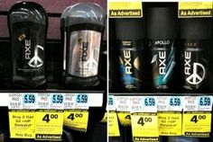FREE Axe Body Spray or Deodorant at Rite Aid after Double +Up Rewards!