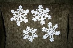 Crochet Christmas Snowflake Ornaments