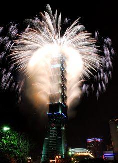 Taipei 101 2008 NewYear Firework - Taipei 101 - Wikipedia, the free encyclopedia