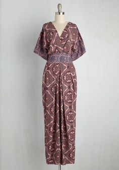 Method to Your Palace Dress by Closet London - Multi, Pink, Paisley, Print, Daytime Party, Graduation, Empire, Maxi, 3/4 Sleeve, Spring, Best, V Neck, Wedding Guest, Long, Woven