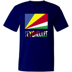 """Lovely design features the #Seychellois Flag with the word """"#Seychelles"""", below, in the colours or colors of the flag. Terrific for travelers wanting to recall a trip, vacation or holiday. Wonderful for honoring your ethnic heritage, ancestry and culture. Creative teachers may find some items good teaching aids or tools. Great gift ideas for Christmas, birthday or anytime. $24.99 ink.flagnation.com"""