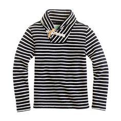 Boys' shawl-collar terry popover in nautical stripe      $58.00