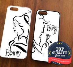 Disney Beauty And The Beast Couples Phone Case for iPhone 4/4S, 5/5S, 5C Series, iPhone 6, 6