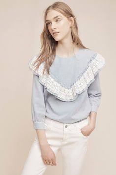 Kitterby Ruffle Top by: Maeve Price: $98.00