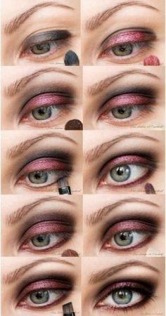 Cranberry evening eye makeup tutorial from www.snobka.pl