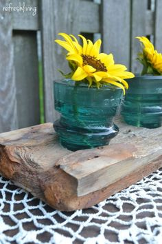Create A Sweet And Simple Centerpiece Using Old Glass Insulators