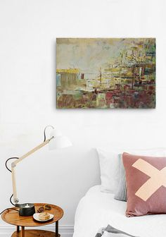 FREE SCHIPPING Abstract painting Brown town. 100% by INKAARTSHOP