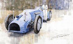 Bluebird 1933 Daytona Malkolm Campbell by Yuriy Shevchuk