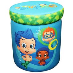 Nickelodeon Bubble Guppies Totally Guppies Storage Ottoman...  For his new play room.