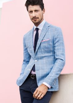 DIGEL collection Spring/Summer 2017 - Blue sky Polished Man, Spring Summer, Summer Men, Outfit Of The Day, Spring Fashion, How To Look Better, Menswear, Mens Fashion, Jackets