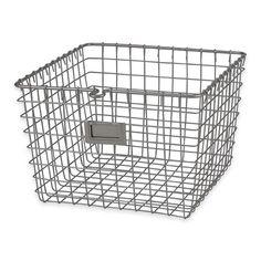 product image for Spectrum® Metal Wire Storage Basket in Satin Nickel