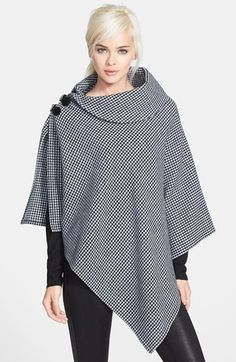 Lauren Ralph Lauren Drape Neck Bridle Buckle Poncho available at Nordstrom Sewing Clothes, Diy Clothes, Clothes For Women, Coat Patterns, Dress Patterns, Shawl Patterns, Sewing Patterns, Diy Fashion, Fashion Dresses