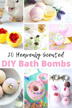 20 Heavenly Scented DIY Bath Bombs - The Kindest Way