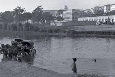Rio Tamanduateí no começo do século passado. Foto de Guilherme Gaensly