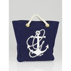 Pre-owned Gucci Navy Blue Canvas Mini Anchor Tote Bag ($245) ❤ liked on Polyvore featuring bags, handbags, tote bags, gucci purses, gucci tote bag, canvas tote bags, mini canvas tote bags and canvas travel tote