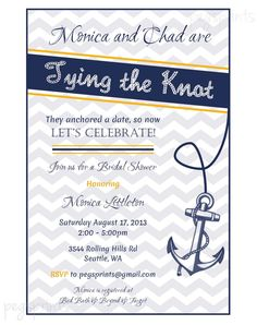 bridal shower Paper Fonts and Boats