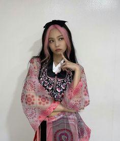 Blackpink Jennie, Pink Hair, Kimono Top, High Neck Dress, Bohemian, Saree, Casual, Tops, Dresses
