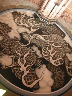 雲龍図 Japanese Dragon, Chinese Dragon, Japanese Art, Oni Mask Tattoo, Tiger Dragon, Oriental, American Ninja Warrior, Asian Art, Science Nature