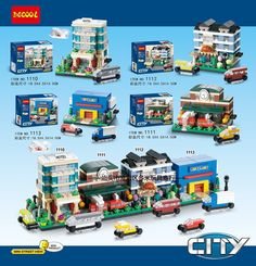 18.99$  Buy now - http://ali779.shopchina.info/go.php?t=32810059956 - 4 Pcs/Lot DECOOL City Urban Mini Street Houses Building Blocks Bricks Model Kids For Children gifts Toys Marvel Compatible Legoe  #buyininternet