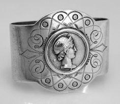 Medallion Gorham Coin Silver Napkin Ring 1865