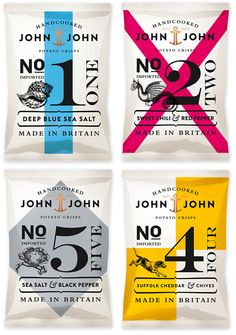 John & John Potato Crisps. Designed by Peter Schmidt Group.