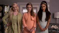 "The Chanels' Powerpuff Girls colour theme. | 19 ""Scream Queens"" Outfits That Are Fierce As Hell"