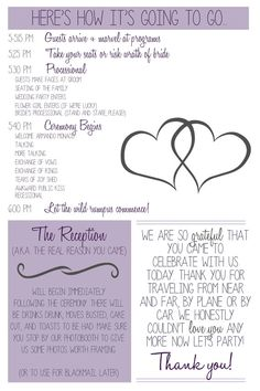 Add a little personality to your special day! This Printable Custom Wedding Program is super funny and is guaranteed to grab your guests