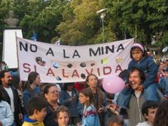 Protests against the use of cyanide at the site of Meridian's proposed gold mine in Esquel, Argentina.